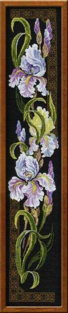 RIOLIS 841 Blumen Iris Stickerei Kreuzstich-Zählmuster