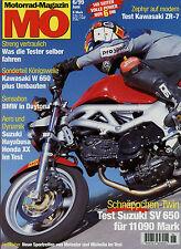 mo 6/99 1999 Honda CBR 1100 XX Suzuki 1300 R Hayabusa Kawasaki W 650 KTM Duke
