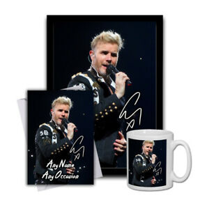 Gary-Barlow-Take-That-1-Gift-Set-Mug-A4-Framed-Poster-FREE-Valentines-Card