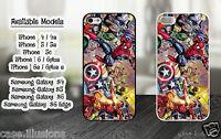 Marvel Sticker Bomb Superheroes Spiderman Batman Joker Phone Case Hard Cover 286