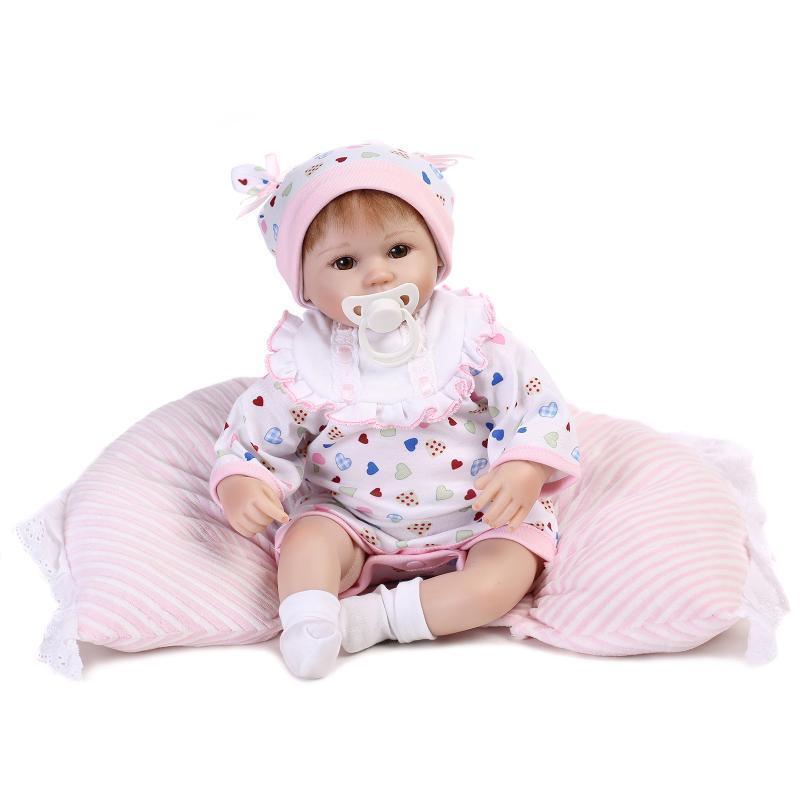 16  muñeca bebé realista Reborn de regalo recién nacido realista de vinilo niña hecho a mano de silicona