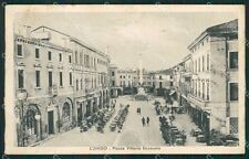 Vicenza Lonigo PIEGATA cartolina QK7729