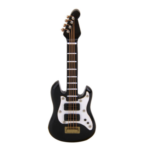 Black Wooden Electric Guitar Music Instrument Dollhouse Miniature Furniture