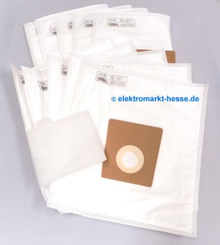 BasicXL 10 Micro Fleece Sacs pour aspirateur convient pour Bosch//Siemens Taille DEFG-H