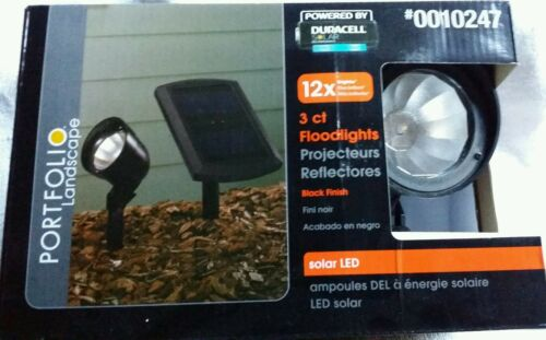 Portfolio landscape  3ct floodlights solar LED black