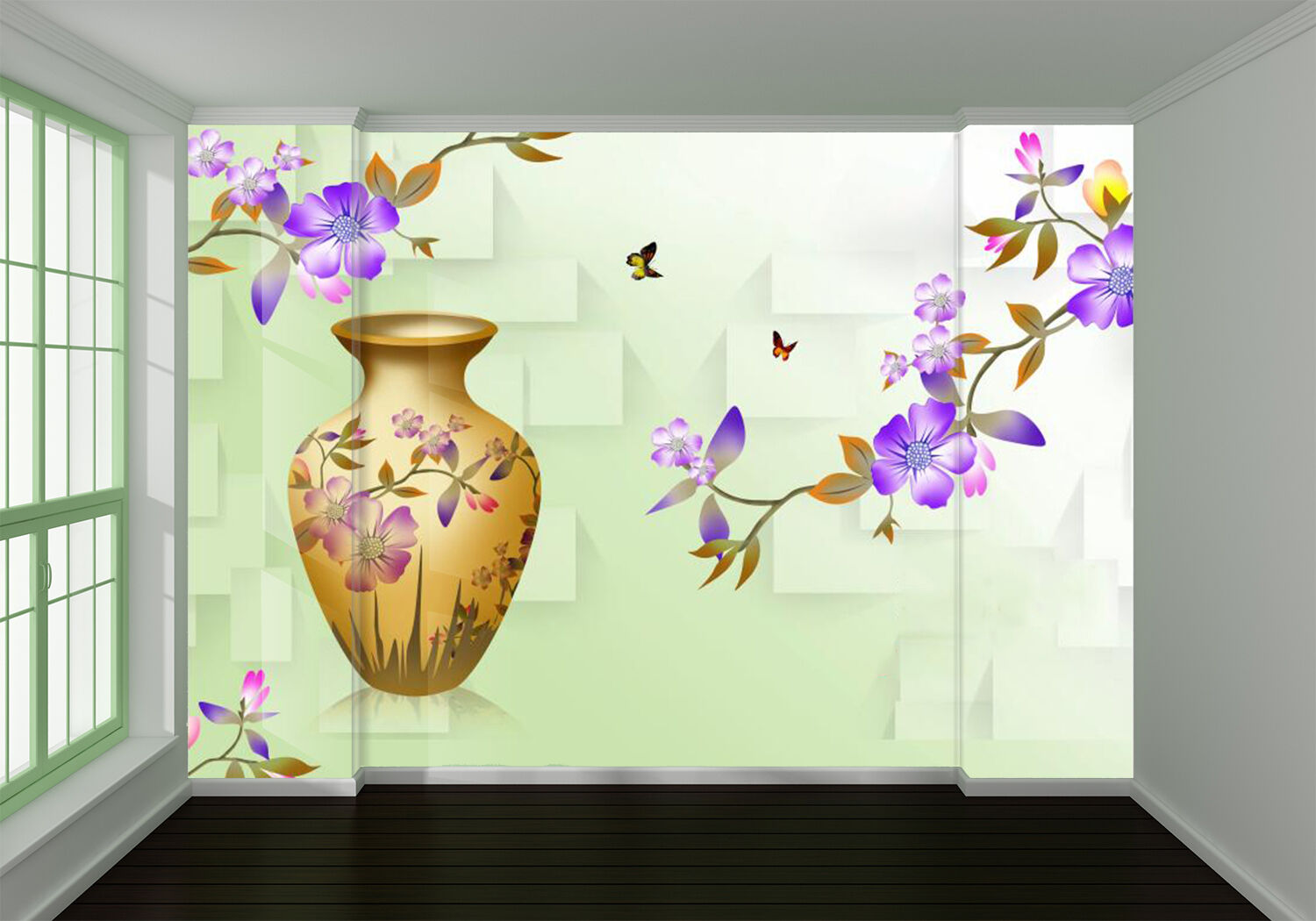 3D lila flower 3434 Wall Paper Wall Print Decal Wall Deco Indoor Wall Murals