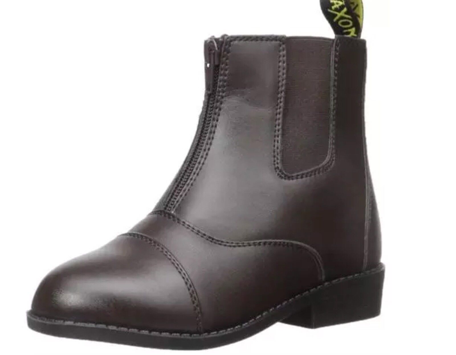 Saxon Women's Equileather Zip Front Boots Brown Size 7