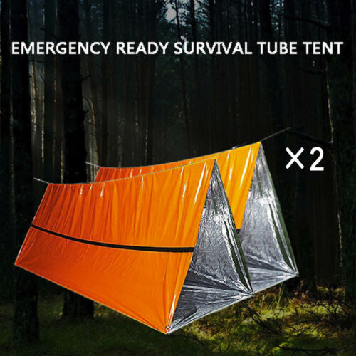 Camping Tube Adventure Rescue Outdoor Tents Windproof Emergency Survival Shelter