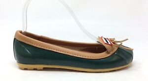 Hunter-Women-039-s-Ballet-Flat-Shoe-Green-Brown-Leather-Size-5-M-US