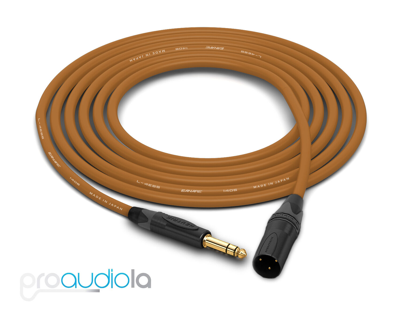 Canare Quad L-4E6S Cable   Neutrik guld TRS XLR-M   braun 275 Feet   275 Ft 275'