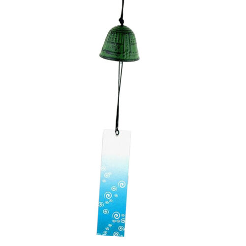 Wind Chimes Furin Japanese Home Yard Garden Decor Outdoor Living Gift Green2