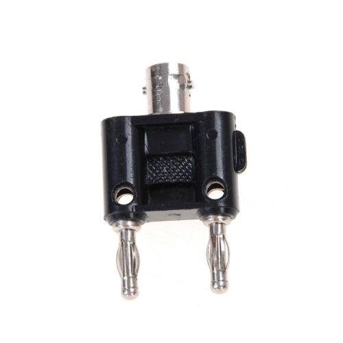 BNC female jack to two dual Banana male plug RF adapter connector ZT