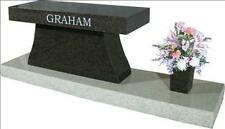 Memorial bench 100% granite cremation interment up to 4 urns free shipping