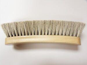 Large-Professional-Boot-Shoe-Shine-Buff-Brush-100-Horsehair-8-034-Long-BLONDE