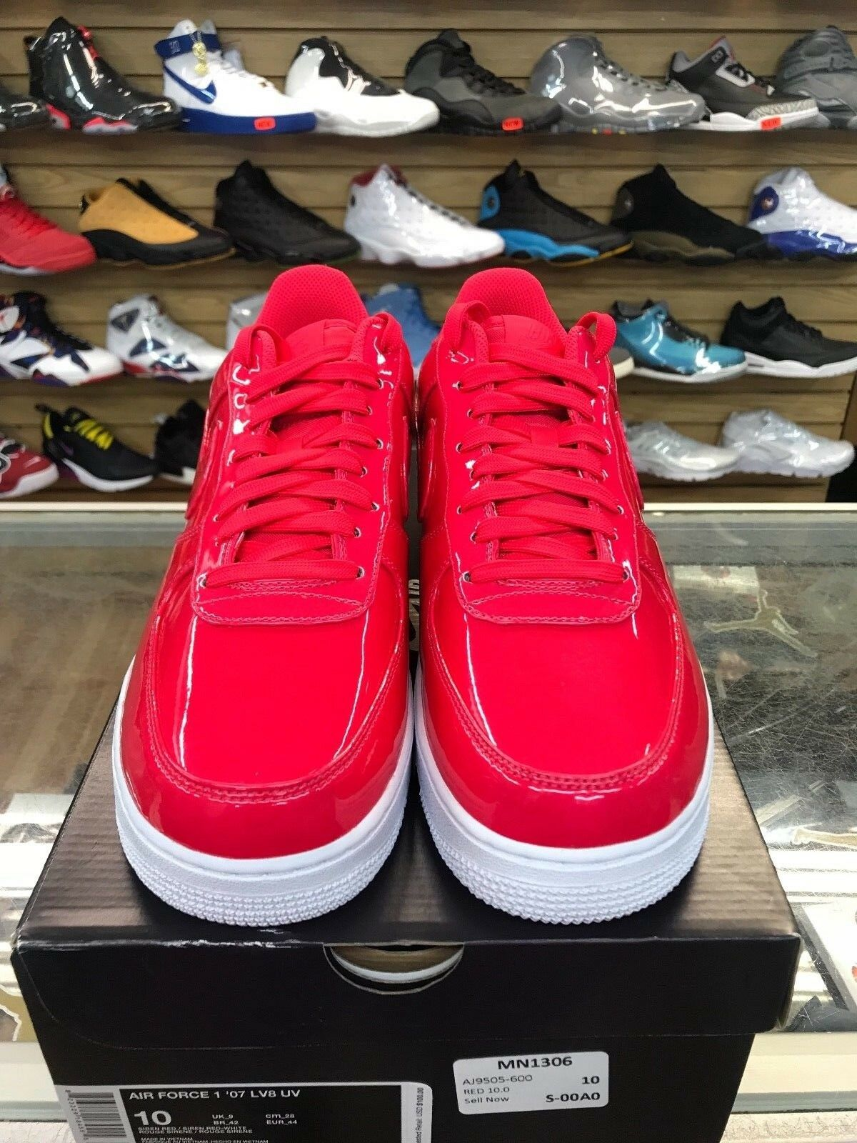 Nike Air Force 1 07 Lv8  Patent Leather Siren Red AJ9505-600  Price reduction