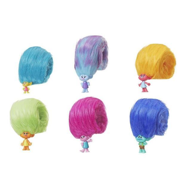 Dreamworks TROLLS HAIR HUGGERS Series 1~LOT of 5 Blind Bags