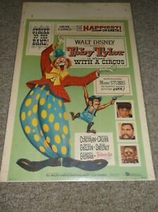 """TOBY TYLER(1960)KEVIN CORCORAN ORIGINAL WINDOW CARD POSTER 14""""BY22"""" NICE!"""
