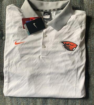 NWT Nike Polo Shirt Big & Tall Mens 4XL White Gray SS Oregon State Beavers Y3 | eBay