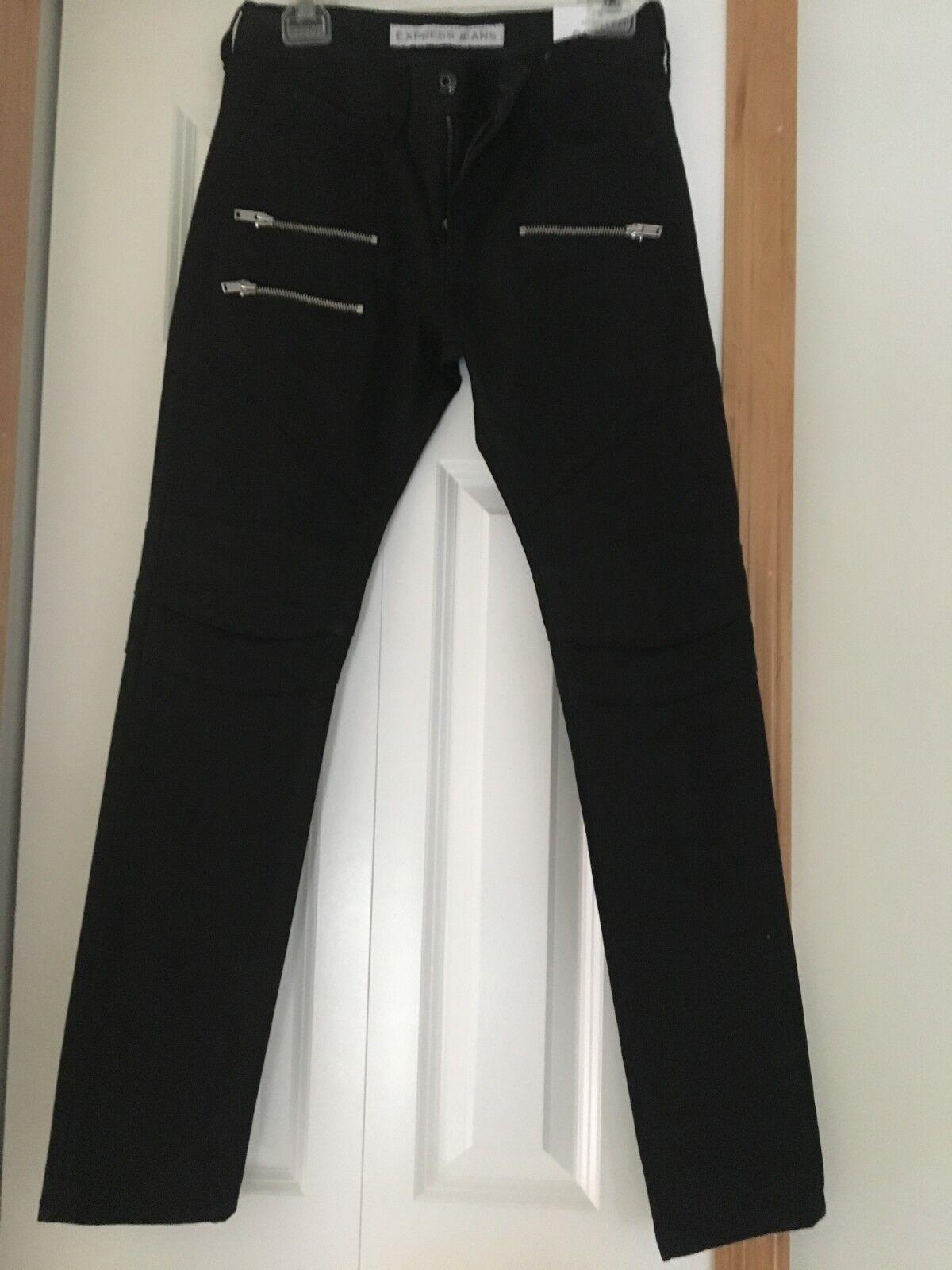 Men's Express Zippered Moto Jeans
