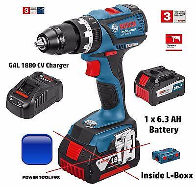 Bosch- GSB18VEC Brushless COMBI DRILL 6.3AH Battery Box 0615990J17 3165140915342