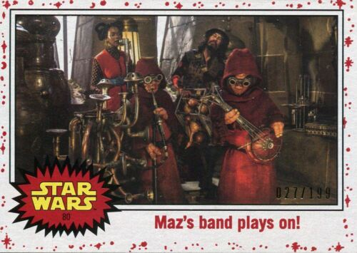 Star Wars The Last Jedi White Base Card #80 Maz/'s band plays on! 199