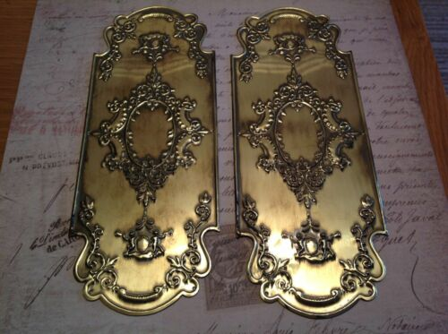 Reclaimed Solid Brass Door Finger Plates Antique finish Churb Design 1
