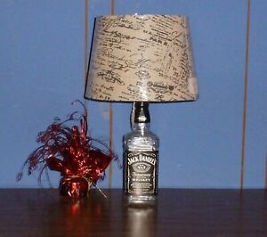 Jack Daniels Lamp made from a 750 ml (a fifth) Jack Daniels whiskey ...