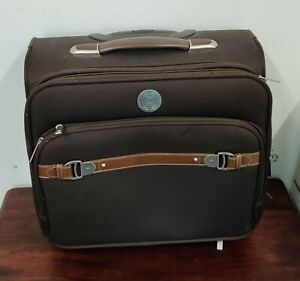 Chaps Rolling Laptop Bag Carry On Luggage Brown Beautiful Inner Lining  Suitcase | eBay