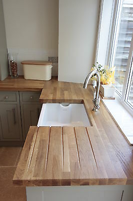 SOLID PRIME OAK WOOD WORKTOP 40mm STAVES! 1m, 2m, 3m, 4m TOP QUALITY WOOD!