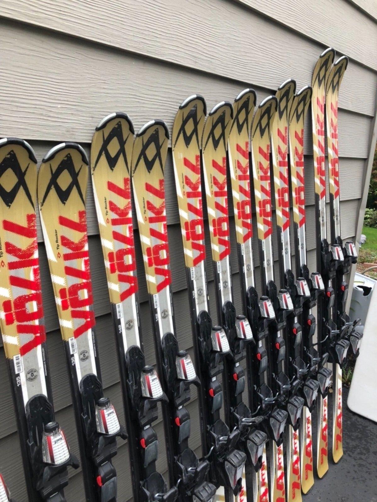 Volkl RTM 7.4 System Skis w  Marker Fastrak Adjustable Demo Bindings VERY NICE