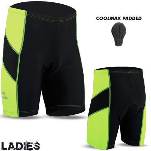 Ladies Cycling Short Anti-Bac Coolmax Compression Padded MTB Cycle Bike Shorts