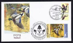 ISRAEL-STAMP-BIRD-DUCKS-IN-HOLYLAND-SPECIAL-FDC-FAUNA-3