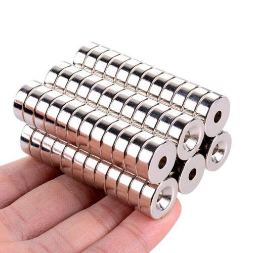 Neodym Ringe Scheiben Magnet Rund Magnete Permanentmagnet mit Bohrung Loch 20*5