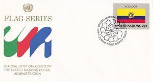UN9-United-Nations-1984-Ecuador-20c-Stamp-Flag-Series-FDC-Price-4-00
