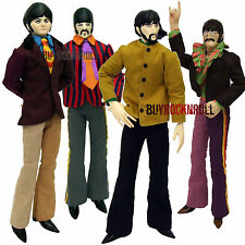 "Beatles Collectors Memorabilia:Yellow Submarine Band Member Doll Set 12"" Figures"