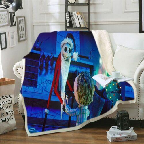 Ultra-Soft Micro Fleece Custom The Nightmare Before Christmas Throw Blanket