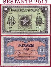 MOROCCO MAROCCO Banque d'Etat du Maroc  10 FRANCS 1.5. 1943  - P 25 - QSPL / AXF