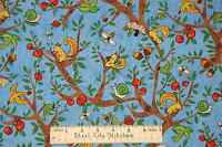 Animal Fabric - Trees Animals Squirrel Bee Bird Bue P&b Textiles Farm Out - Yard