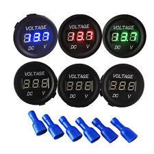 New 12 24v Led Panel Digital Voltage Display Voltmeter Volt Meter Car Motorcycle