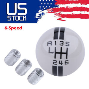 6 Speed Stick Gear Shift Knob Lever Shifter For Ford Mustang GT500 Universal
