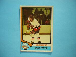 1974-75-O-PEE-CHEE-NHL-HOCKEY-CARD-195-DENIS-POTVIN-ROOKIE-VG-NICE-OPC