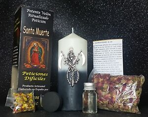 "Completo Ritual ""SANTA MUERTE"" Velon De Peticion / Candle HOLY DEATH, Spell"