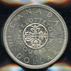 1964-Canada-Silver-Dollar-ICCS-MS-63-Cert-XVZ-963