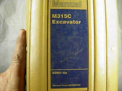 cat caterpillar m315c excavator service manual bdm ebay rh ebay com Excavation Safety Excavator Manuals and Bulldoze Rollover