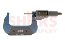 "SHARS 2-3"" DIGITAL DIGIT  MICROMETER .001mm/ .00005"" FLAT SPINDLE NEW"