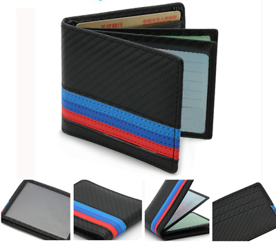 BMW M Sport Leather Wallet Coin Purse Holder M sport BLACK Mens Accessory New