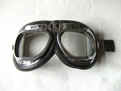 Old Pilot/aviator/flying/motorcycle Goggles Ideal For Re-enactment/steam Punk Sentirsi A Proprio Agio