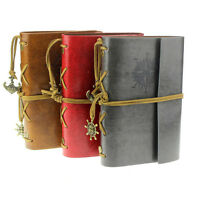 Latest Vintage Style Leather Cover Notebook Journal Diary Blank String Nautical