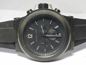7b71ccc09f63 Michael Kors Men s Dylan Black Silicone Strap Chronograph Watch ...
