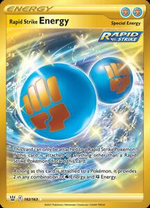 Rapid Strike Energy - 182/163 - Secret Rare, SWSH Battle Styles, NM-Mint x1